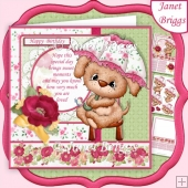 SITTING PRETTY PUPPY 7.5 Decoupage & Insert Mini Kit