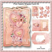 Pink Hearts Shaped Card Kit