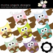 Cute Owl Cliparts