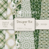 Designer Mix Set 1 A4 Papers