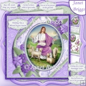 THE LORD IS MY SHEPHERD 7.5 Easter Sympathy Decoupage & Insert