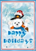 Snow Friends Christmas Greeting Backing Background Paper