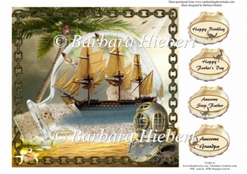Ship in Bottle Quick Card Topper