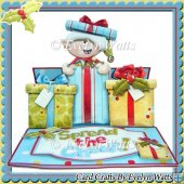 Elf Cheer Shaped Christmas Easel Card Kit