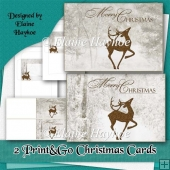 2 Print and Go Christmas Cards