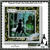 Magical Forest Fairy Silhouette Card Front