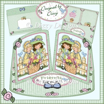 Friends forever! - Double Twisted Easel Card