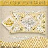 Pop Out Fold Card yellow Rose