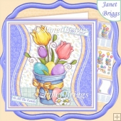 EASTER POT 7.5 Decoupage & Insert Mini Kit