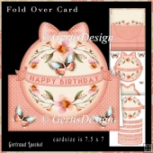 Over the edge card kit peach