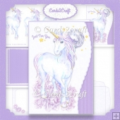 Wavy Edge Unicorn Card set