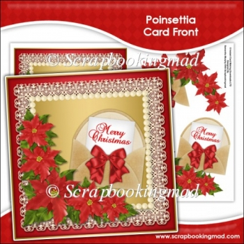 Poinsettia Card Front