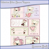 Valentine Polar Bears Toppers