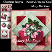 Christmas Surprise - Diamond Pyramid Card