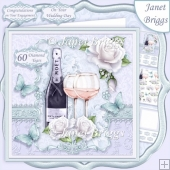 CHAMPAGNE CELEBRATIONS DIAMOND 7.8 Decoupage & Insert Kit
