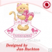 Cute Cat Valentines/Birthday Rocker Card