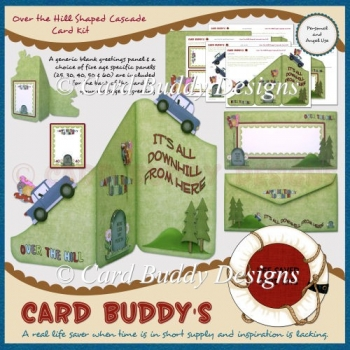 Over the Hill Shaped Cascade Card Kit