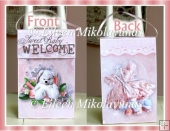 Welcome Baby Girl Self-Closing Gift Bag with Directions