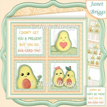 HUMOROUS AVOCADO SQUARES 7.5 Quick Layer Card & Insert Kit