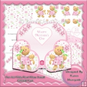 Purr-fect Kitty Heart Wrap Around Gatefold Card