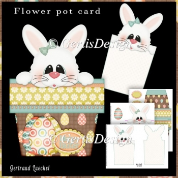 Bunny Pot Stand Alone Card Kit 2