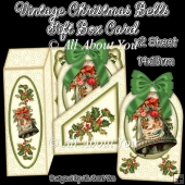 Vintage Christmas Bells Gift Box Card