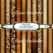 Bronze Textured Backing Papers - Ten Sheets of 12 x 12 Set One