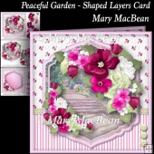 Peaceful Garden - Shaped Layers Card