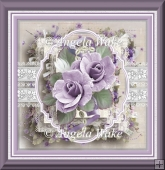Lilac rose and lace