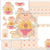 Angel Baby 3 Decoupage Set