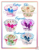 Cottage Chic Cupcake Sentiments Embellishments