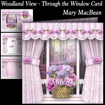 Woodland View - Through the Window Card