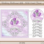Birthday Balloons 18th - 50th Card Front