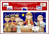 Nativity DL Card Kit With Decoupage, Insert & Matching Envelope