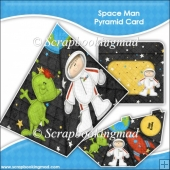 Space Man Pyramid Card