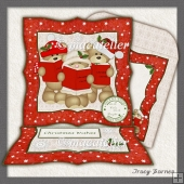 Easel Card Caroling bears