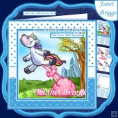 UNICORN OLD FARTS STILL SPARKLE 7.5 Decoupage Card Kit