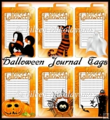 Halloween Journal Tags Set