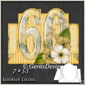 Vintage 60th Birthday Stepper Card Kit 1216