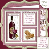 RED WINE SAVE THE DAY or CRAFTY CORKS 7.5 Quick Layer Card Kit