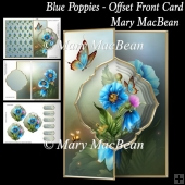 Blue Poppies - Offset Front Card
