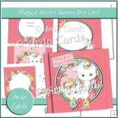 Magical Unicorn Shadow Box Card