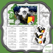 Football 2017 A4 UK Calendar with Decoupage Kit