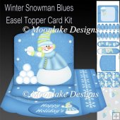 Winter Blues Snowman Easel Topper Card Kit