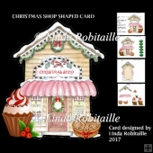 Christmas Shop Shaped Card