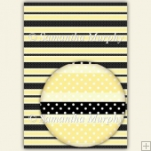 Yellow & Black Stripes & Dots A4 Backing Paper