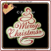 636 Merry Christmas Card or Topper *Multiple MACHINE Formats*