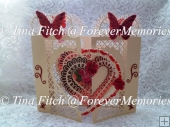 Heart Overlap Door Card, Cameo,Portrait,Curio