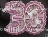 30th Burst Card TF0100, SVG,SCAL,CAMEO,CRICUT