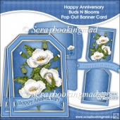 Happy Anniversary Buds N Blooms Pop Out Banner Card
